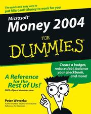 Cover of: Microsoft Money 2004 for dummies