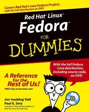 Cover of: Red Hat Linux Fedora for dummies