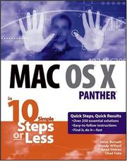 Cover of: Mac OS X Panther in 10 Simple Steps or Less | Steve Burnett