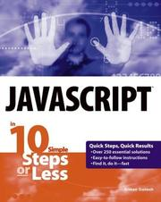 Cover of: JavaScript in 10 Steps or Less