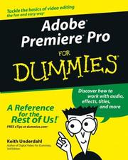 Cover of: Adobe Premiere Pro for Dummies