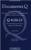 Cover of: Q 6:20-21