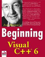 Cover of: Beginning Visual C++ 6
