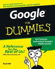 Cover of: Google for dummies