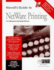 Cover of: Novell's guide to NetWare printing