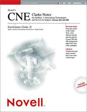 Cover of: Novell's Cne Clarke Notes for Netware 5 Networking Technologies and Service & Support
