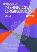 Cover of: Yearbook International Organization 97-98 V1 (34th ed. Vol 1)