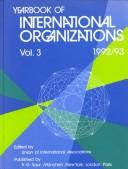 Cover of: Yearbook of International Organizations: 1992/1993  | Union of International Associations.