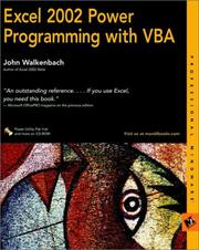 Cover of: Excel 2002 power programming with VBA