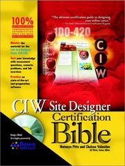 Cover of: CIW Site Designer Certification Bible (With CD-ROM) | Natanya Pitts