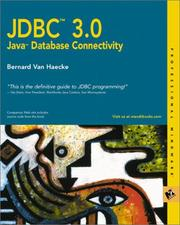 Cover of: JDBC 3 | Bernard Van Haecke