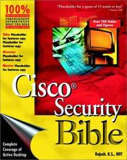 Cover of: Cisco(r) Security Bible | K. S. Rajesh