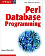 Perl database programming by Brent Michalski