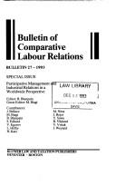 Cover of: Part Management (Bulletin of Comparative Labour Relations) | Roger Blanpain