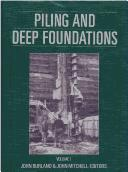 Cover of: Piling and deep foundations | International Conference on Piling and Deep Foundations (3rd 1989 London, England)