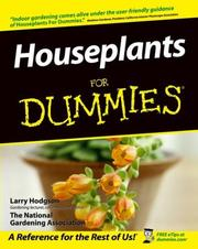 Cover of: Houseplants for dummies | Larry Hodgson