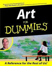 Cover of: Art for dummies