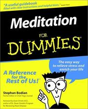 Cover of: Meditation for Dummies | Stephan Bodian