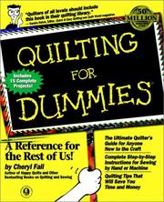 Cover of: Quilting for dummies
