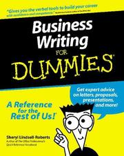 Cover of: Business writing for dummies