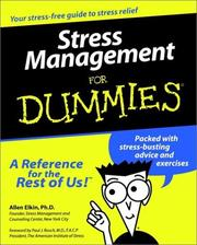 Cover of: Stress management for dummies