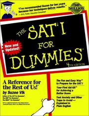 Cover of: The SAT I for dummies | Suzee Vlk