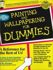 Cover of: Painting and wallpapering for dummies | Gene Hamilton