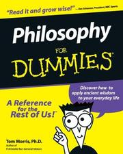 Cover of: Philosophy for dummies | Thomas V. Morris
