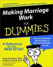 Cover of: Making marriage work for dummies
