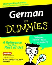 Cover of: German for dummies