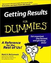 Cover of: Getting Results for Dummies