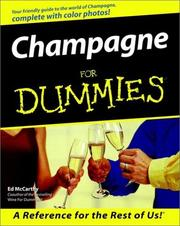 Cover of: Champagne for Dummies