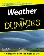 Cover of: Weather for Dummies | John D. Cox