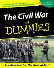 Cover of: The Civil War for dummies | Keith D. Dickson