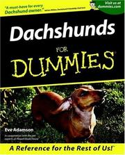 Cover of: Dachshunds for Dummies | Eve Adamson