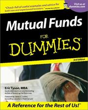 Cover of: Mutual funds for dummies