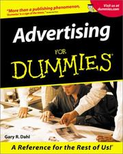 Advertising for dummies by Gary Dahl, Gary R Dahl
