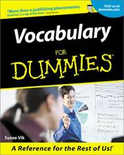 Cover of: Vocabulary for dummies