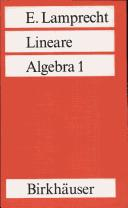 Cover of: Lineare Algebra 1