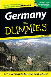 Cover of: Germany for Dummies | Donald Olson