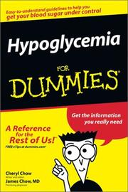 Cover of: Hypoglycemia for Dummies | Cheryl Chow