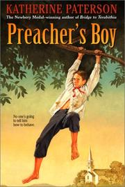 Cover of: Preacher's boy