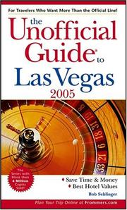 Cover of: The Unofficial Guide to Las Vegas 2005 (Unofficial Guides)