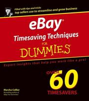 Cover of: eBay Timesaving Techniques for Dummies | Marsha Collier