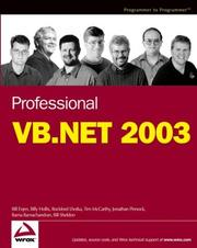 Cover of: Professional VB.NET 2003