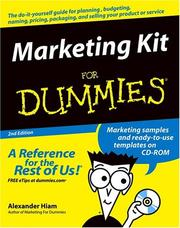Cover of: Marketing kit for dummies | Alexander Hiam