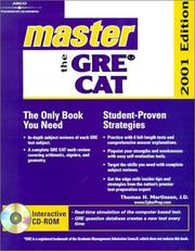 Cover of: Master the Gre Cat 2001