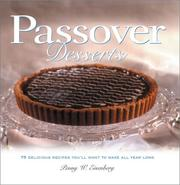 Cover of: Passover desserts | Penny Wantuck Eisenberg