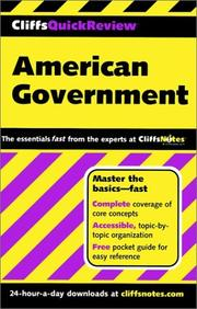 Cover of: American Government (Cliffs Quick Review)