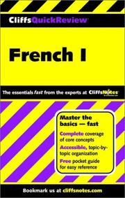 Cover of: French I
